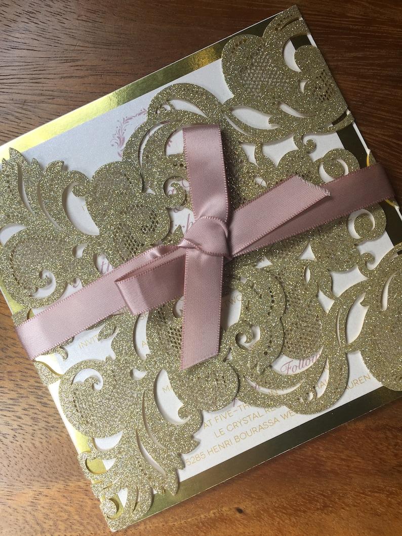 Image 0: Gold Laser Cut Wedding Invitations At Websimilar.org
