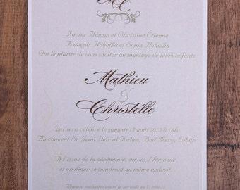 Classy invitation, Wedding Invitations, Basic Wedding Invitation, Elegant Wedding Invitation, Elegant Wedding Invitations, basic Invitation