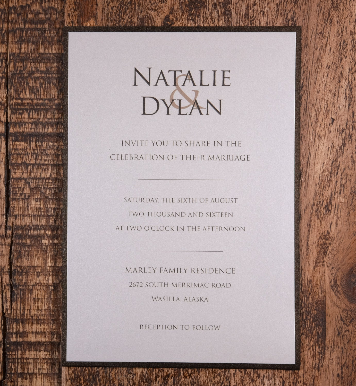 Modern Wedding Invitation, Modern Invitation, Simple Invitations ...
