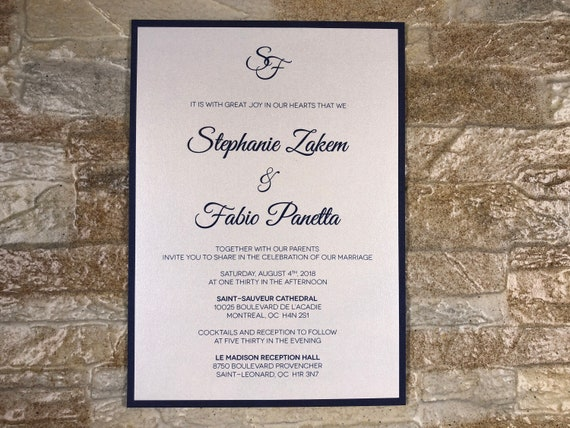 navy wedding invitation navy wedding invitations navy and etsy