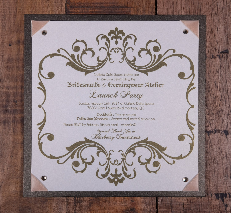 Event Invitation, Launch Party Invitation, Fashion Show Invitation ...
