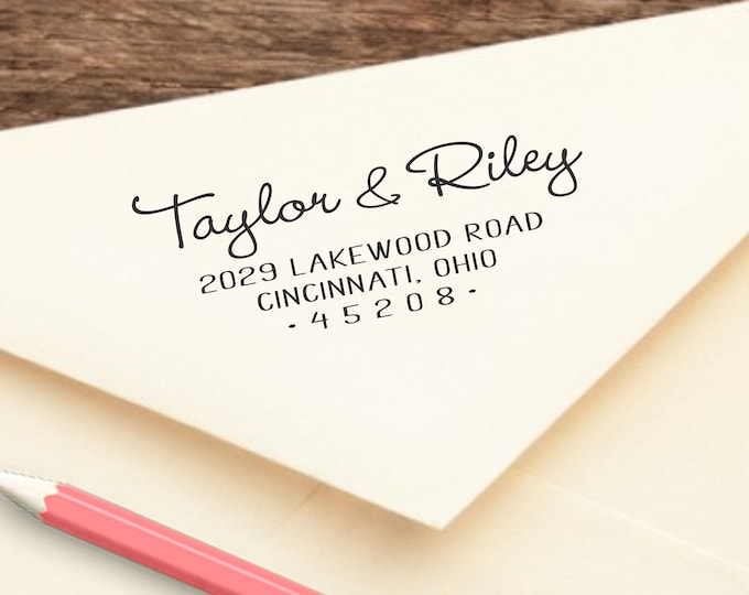 Perfect Wedding Bridal Shower or Housewarming Gift SHIPS FAST! Personalized Self Inking Return Address Stamp  STRY2770