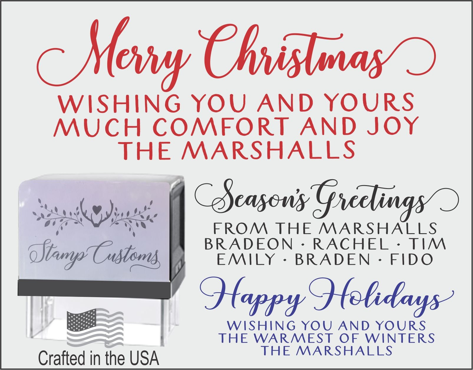 Holiday Address Stamp Holiday Return Address Self Inking Stamp Christmas Address Stamp S074 Scandinavian Christmas Tree Custom Address