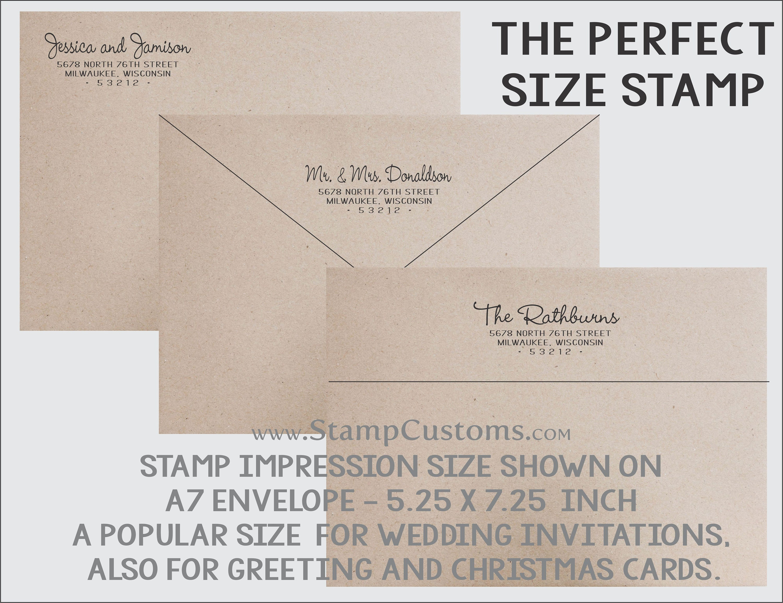 Personalized Address Stamp Custom Return Address Stamp Calligraphy Address Stamp Return Address Stamp No53 Self Ink Return Address Stamp