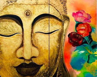 2 sectional Budha paintings