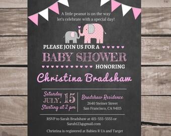 Baby Shower Invitation, Baby Shower Invitation Girl, Personalized Baby Shower Invite, Baby Girl Shower Invitation, Customized Invitation