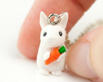 Rabbit Charm Necklace for Bunny Lover Gift