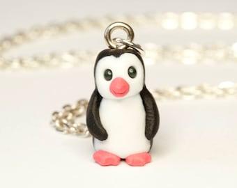 Penguin Necklace. Miniature Penguins. Penguin Accessories. Tiny Penguin Charm. Penguin Gifts. Penguin Pendant. Small Penguin Jewellery.