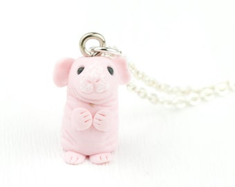Guinea Pig Necklace for Skinny Guinea Pig Owner. The perfect Cute Cavy Jewellery Gift