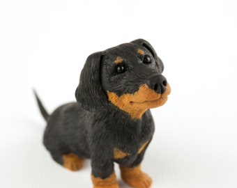 Sausage Dog Ornament, Dachshund Figurine, Miniature Sausage Dog Sculpture, Dogs Gifts, Dog Lover Gift, Etsy Mcr, Animal Pet Ornaments