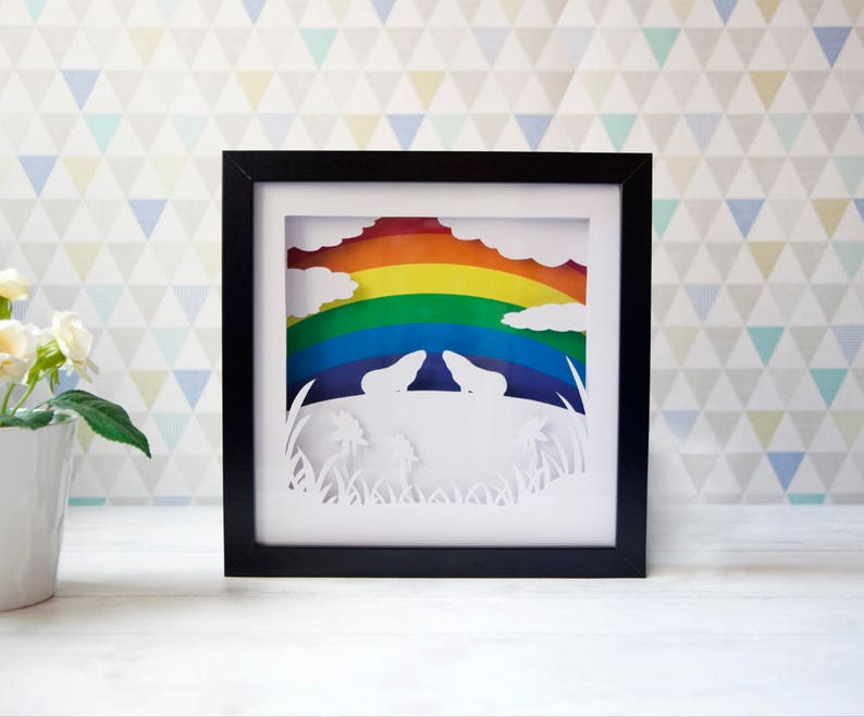 Guinea Pig Rainbow Bridge Gift. Custom Pet Memorial. image 0