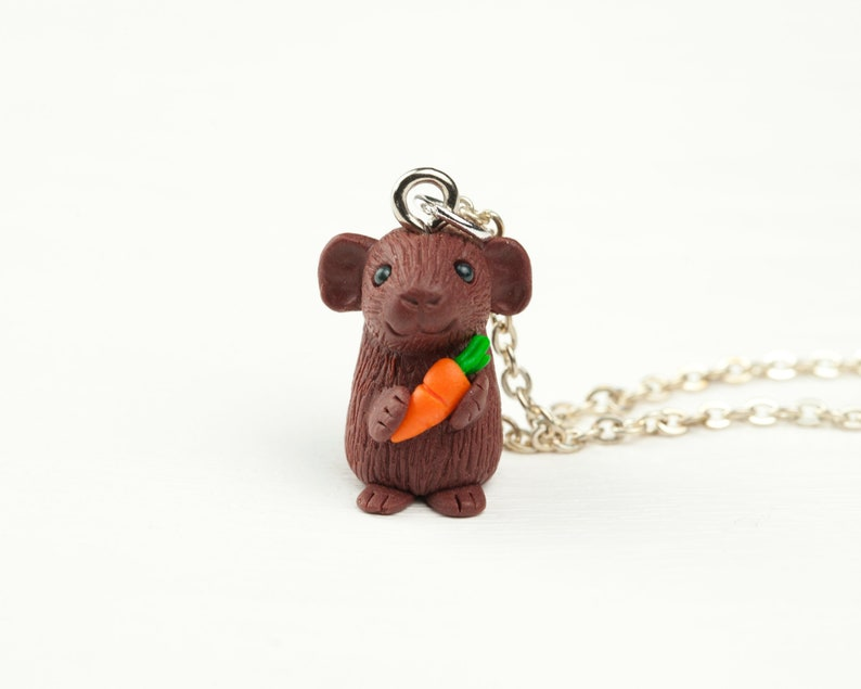 Guinea Pig Charm Necklace for Miniature Cavy Lovers image 0