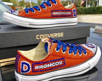 newest 1a27b 326d6 Denver Broncos Brilliant crystallized converse –STUNNING! Any team Any sport