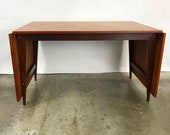 Danish Teak Drop Leaf Dining Table Designed by Poul Cadovious (FREE SHIPPING)