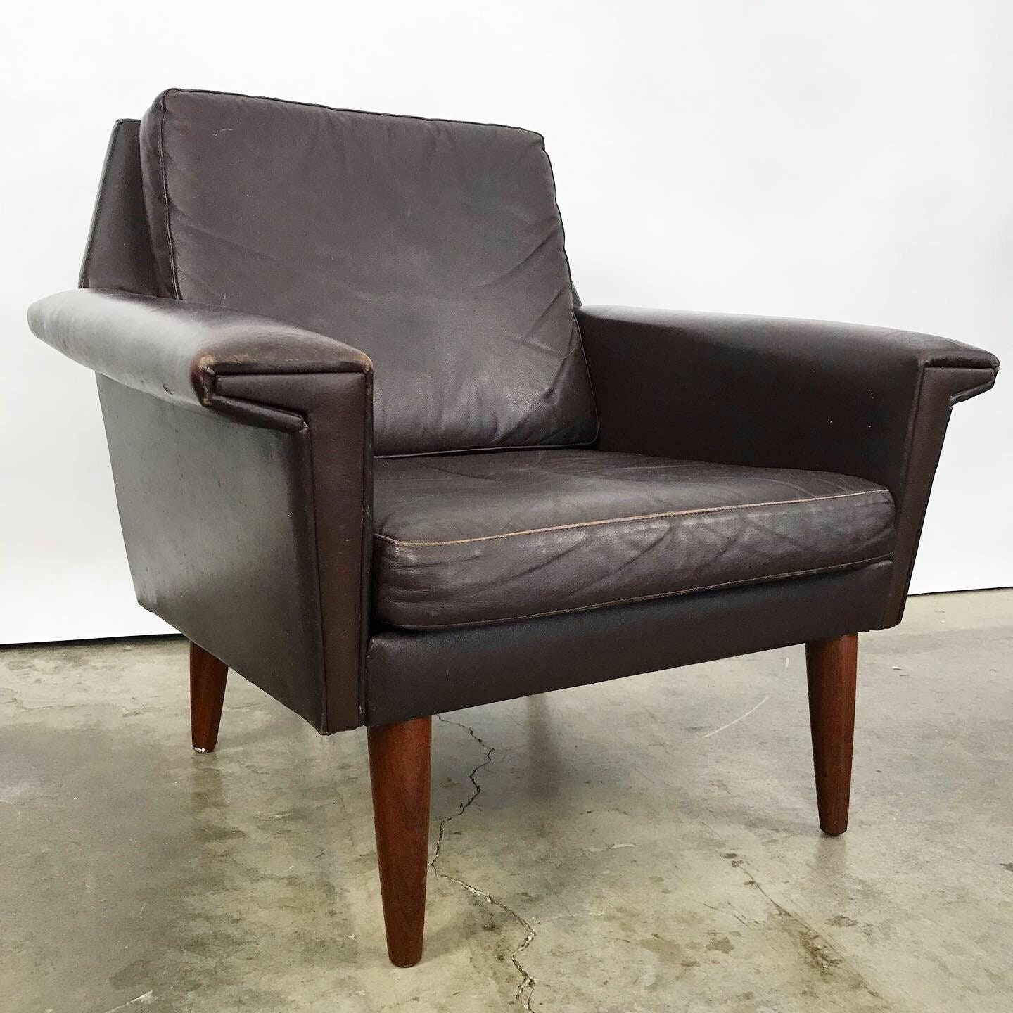 Danish Leather Lounge Chair Free Shipping
