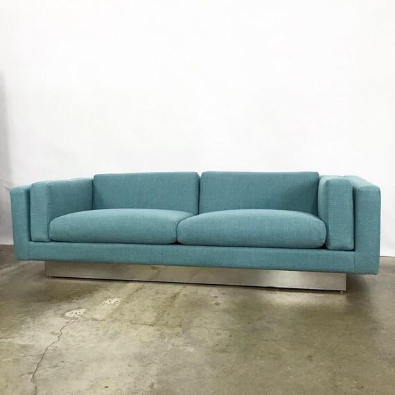Astounding Modern Sofa With New Upholstery A Chrome Plinth Base By Metropolitan Furniture Free Shipping Spiritservingveterans Wood Chair Design Ideas Spiritservingveteransorg