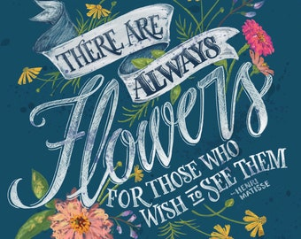 There's Always Flowers Sticker