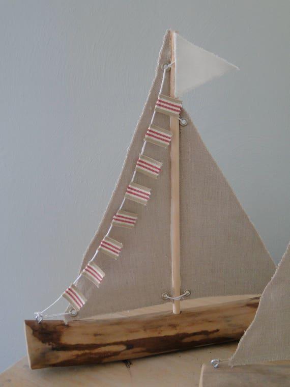 bateaux voiles de bois flott bateaux bois flott anniversaire cadeau nautique d cor plage. Black Bedroom Furniture Sets. Home Design Ideas