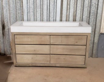 """60"""" Ramp Vanity with 6 Drawer Cabinet"""