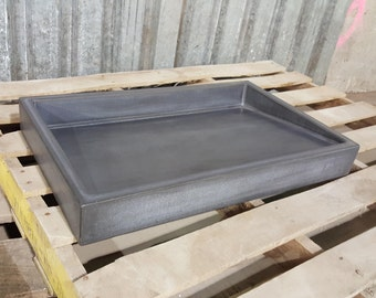 """26"""" × 16"""" Shallow Vessel Ramp Sink with slot drain"""