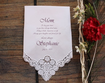 Mother of the Bride handkerchief, PRINTED, to dry your happy tears, Mom Handkerchief, Mother of the Bride Gift,Personalized. LS14FViCAC[15]
