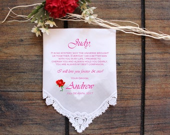 Bride Handkerchief-Wedding Hankerchief-PRINTED-CUSTOMIZED-Wedding Hankies-From the Groom Gift-LS11ViCop[86]