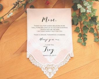 Mother of the Groom handkerchief, custom PRINTED wedding Handkerchief, Mother of the Groom Gift from Groom,Personalized-LS11PadCop[2]