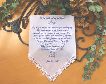 Friend of the Bride-Best friend-Wedding Hankerchief-GIft for Bride-PRINTED-CUSTOMIZED-Weddings-Something blue-Bride gifts from-LS5FCAC[61]