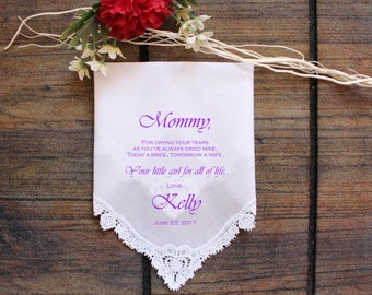 Mother of the Bride Handkerchief-Wedding Hankerchief-PRINTED-CUSTOMIZED-Wedding Hankies-Mother of the Bride Gift-LS11ViCop[121]