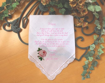Stepmother wedding handkerchief from the bride-PRINT-CUSTOMIZED-Wedding Hankerchief-Mother of the bride Gift-Stepmom personalized-FCAC[80]