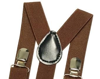 Brown Suspenders, Light Brown Suspenders, Men's Suspenders, Kids Suspenders, Boho wedding ideas, Ring Bearer Outfit, Khaki Suspenders