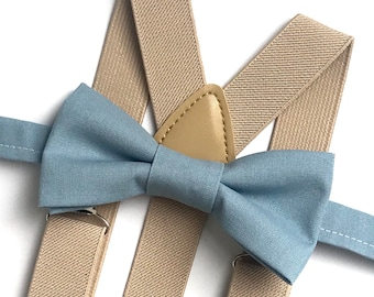 Bow tie + Suspender Sets