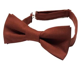 Rust Bow tie, Copper Bow tie, Red Brown Bow tie, Fall Bow tie, Burnt Orange Bow tie, Bow Ties, Bowties, Pre-tied Bow tie