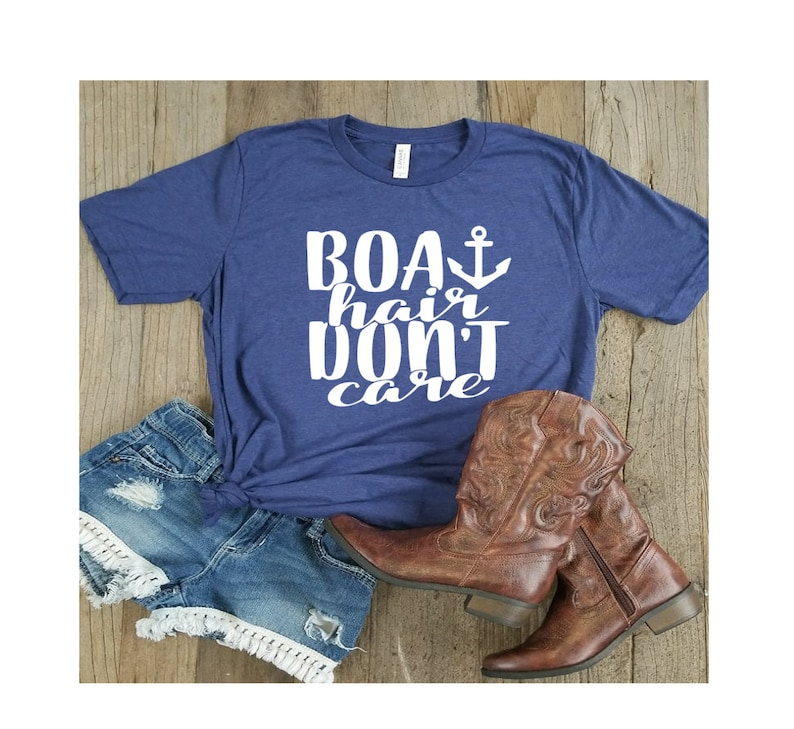 9c4fb5108 Boat Hair Don't Care. Summer Tee. Boating Shirt. Swimsuit | Etsy