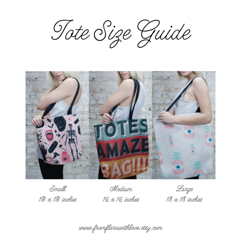 Black Strap Cherry Blossom Tote Bag Fabric Bag Japanese Handbag Grey with color pop