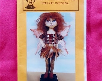 """PATTERN /""""LET/'S VOTE!/"""" BY SUSAN BARMORE PAPER *NEW* CLOTH FOLK ART DOLL"""