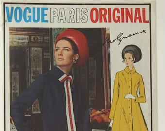 Vogue Paris Original 2222 Pattern, Molyneux Pattern, 60s Mod A-Line Coat Dress, Bust 38