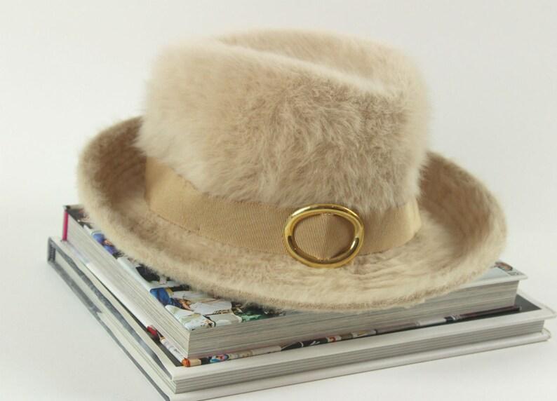 10b43b27 Super Fly Kangol Furgora Fedora Hat Buff Color with Gold image 0 ...