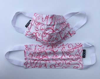 Stop Breast Cancer Face Mask -  Donation w/ Order - Washable - Comfortable Pink Cotton Fabric - Reusable - USA Made - OC Drawstrings - OCD