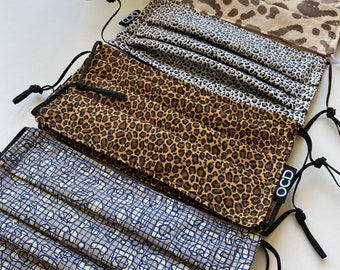 Jungle Print Breathable Face Masks / Animal Print Double Layer Fabric / Buy 1 Donate 1 / Reversible & Washable / Made in California / OCD