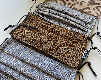 Cheetah Prints Breathable Face Masks / Four Options /  Animal Print / Double Layer Fabric / Donation w/ Order / Reversible & Washable / OCD