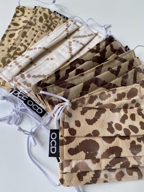 Tie Dye Face Mask Collection - Reversible - Ready2Ship - Buy1 Donate1 - Double Layer Cotton - Adjustable Loops - Hawaiian Batik - Rainbow