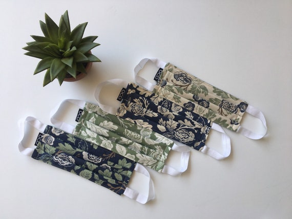 Floral Face Masks - Buy1 Donate1 - Reversible - Washable - Ready2Ship - Made in USA - Free Shipping - Reusable - Lella Boutique - OCD Mask
