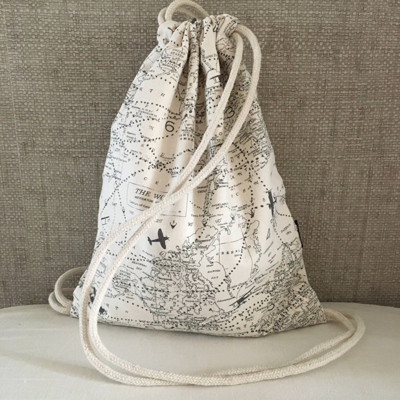 Cartography Backpack Small Cinch Sack Travel Drawstring Backpack OC Drawstrings OC Old World Globe Backpack Purse Drawstring Bag