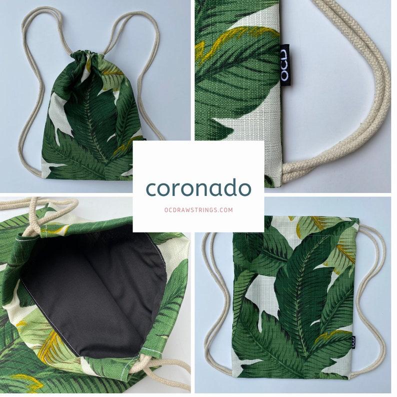 Coronado Drawstring Backpack  Palm Leaves Backpack  Small image 0