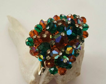 Beaded Crystal Pin