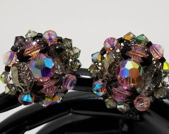 HOBE Beaded Crystal Earrings