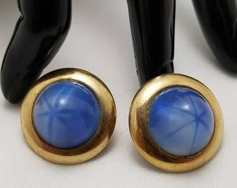 JERAY Blue Glass Cab Earrings