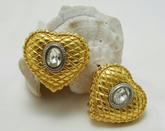 Quilted Heart Earrings