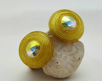 Yellow Resin Earrings
